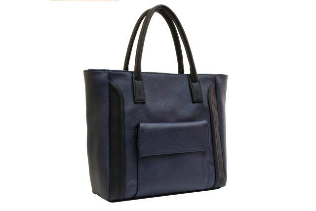 1527 сумка женская черная с отделкой
