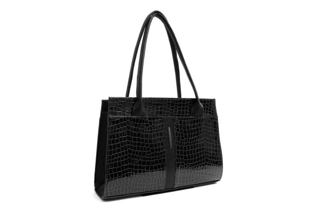 1518 сумка женская черный лак