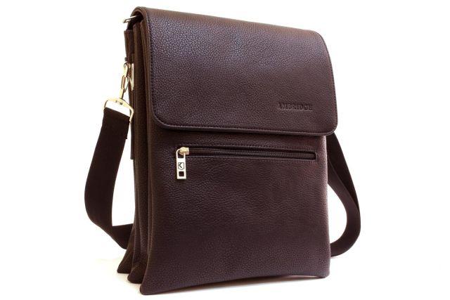 1636 сумка мужская молодежная коричневая