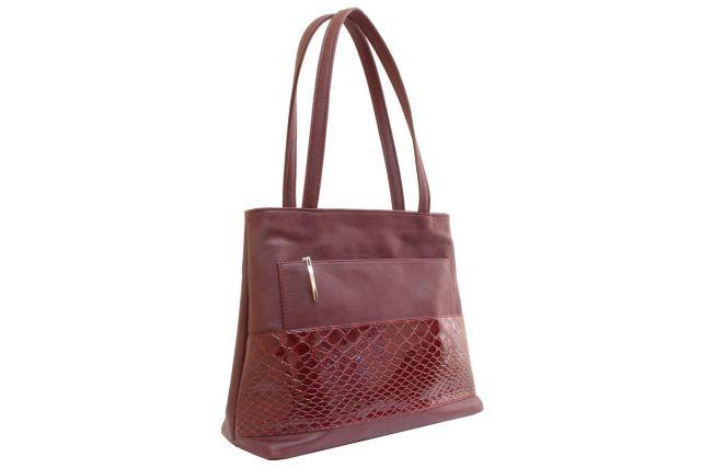 1641 сумка женская бордовая