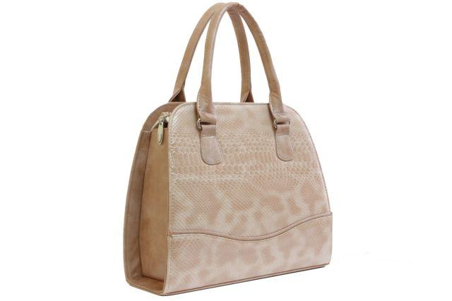 1520 сумка женская бежевый лак/бежевая