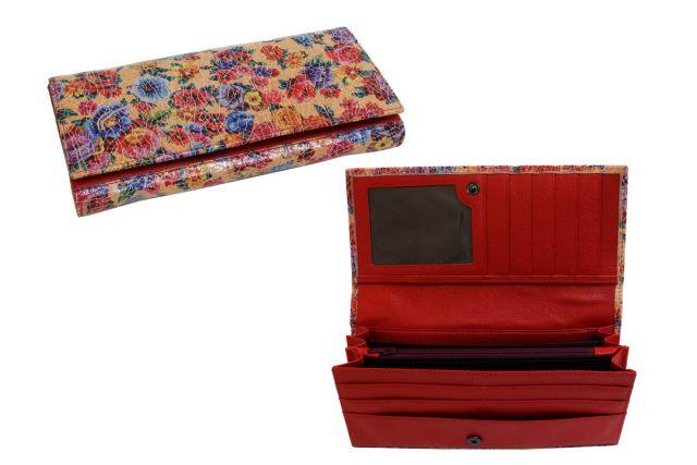 1618н портмоне цветы красные