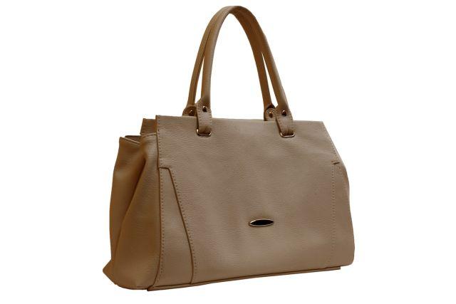 1637 сумка женская темно-бежевая