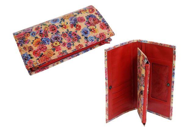 1627н портмоне красные цветы