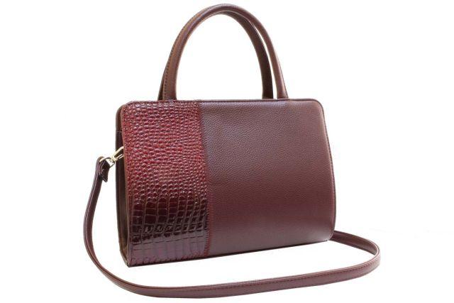 0427 сумка женская бордовая
