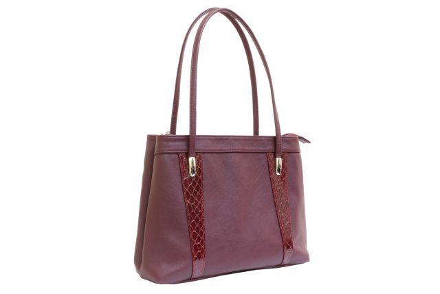 1623 сумка женская бордовая