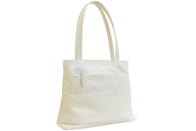 1641 сумка женская бежевая комбинированная