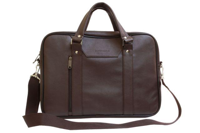 1708 сумка для ноутбука коричневая