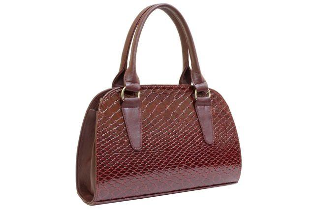1435 сумка женская бордовый лак