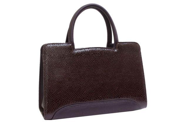 0222 сумка женская коричневый лак