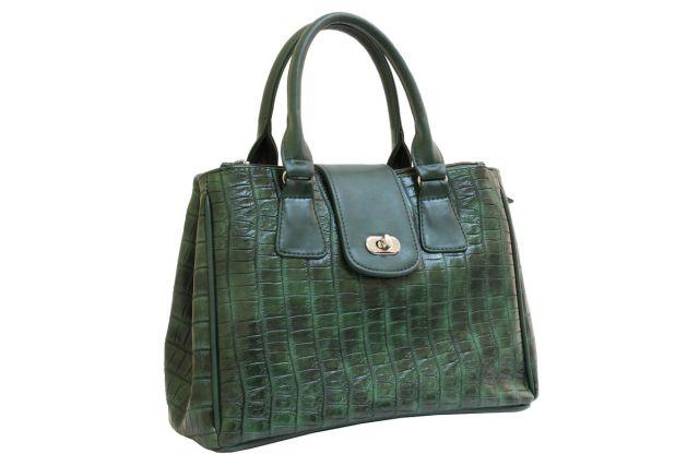 1420 сумка женская зеленая