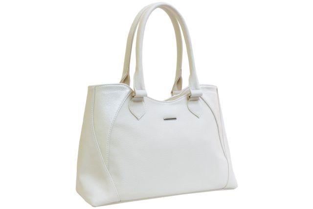 1639 сумка женская бежевая с отделкой