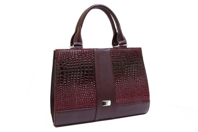 1718 сумка женская бордовая