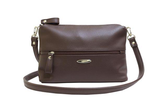 1711 сумка женская коричневая