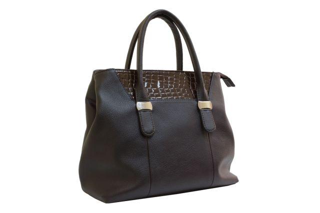 1717 сумка женская коричневая