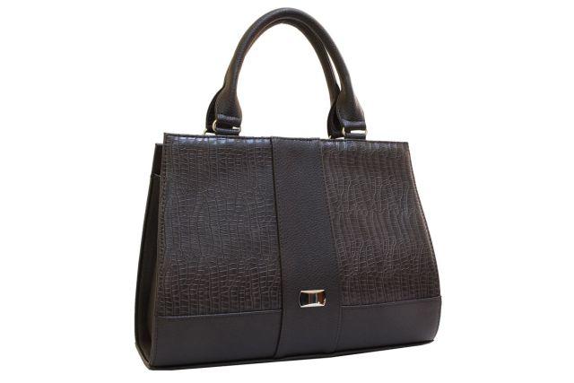 1718 сумка женская коричневая
