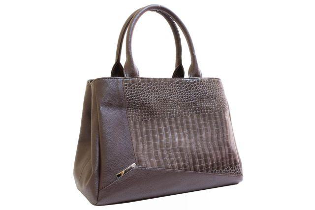 1719 сумка женская коричневая