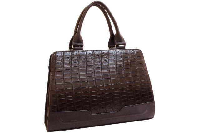 1720 сумка женская коричневый крок/коричневая