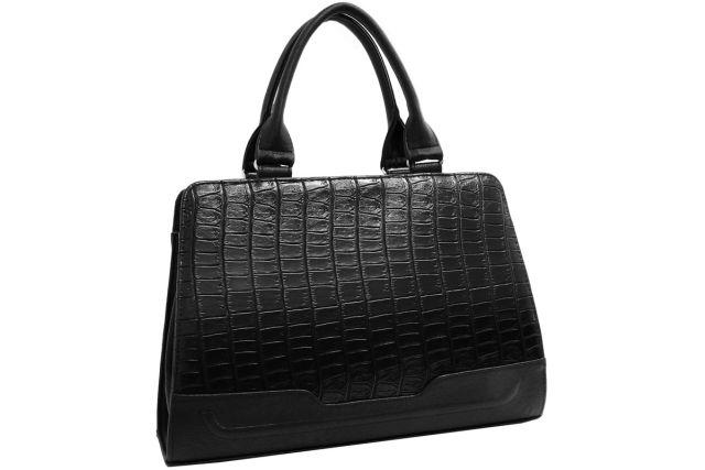 1720 сумка женская черный крок/черная