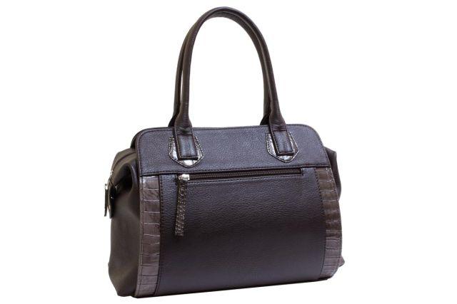 1727 сумка женская коричневая