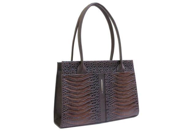 1518 сумка женская коричневый крок