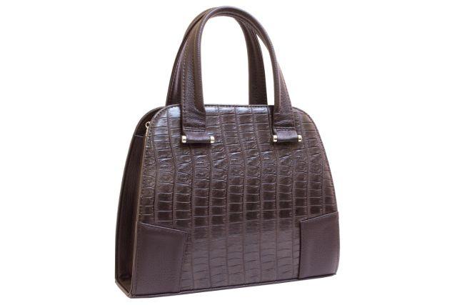 1634 сумка женская коричневый крок