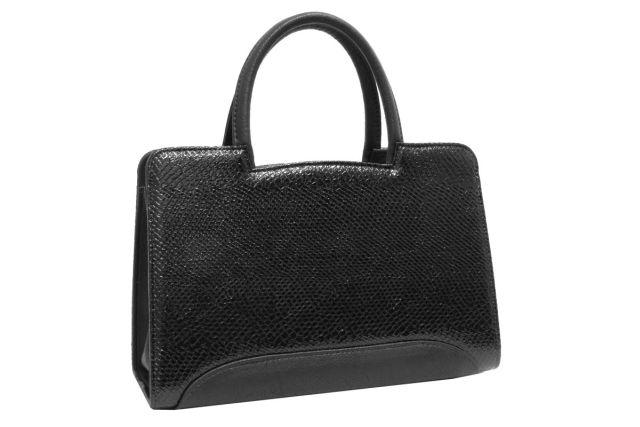 0222 сумка женская черный лак
