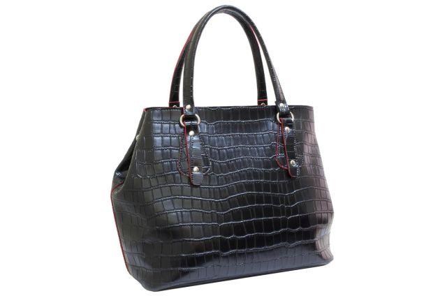 1731 сумка женская черный крок