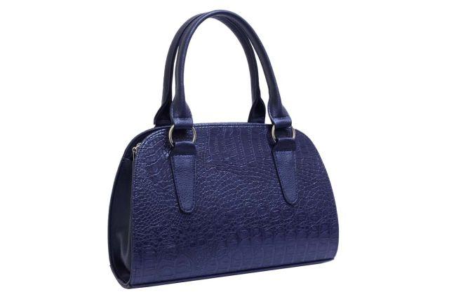 1435 сумка женская синий крок/синяя