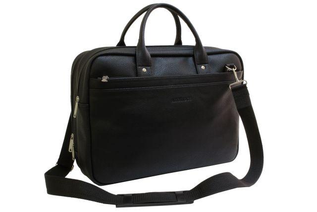 1732 сумка мужская черная