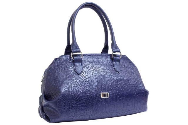 1739 сумка женская синий крок/синяя