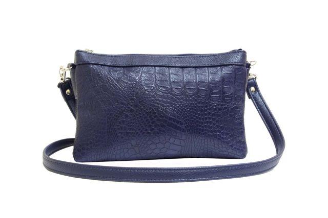 1405 сумка женская синий крок/синяя