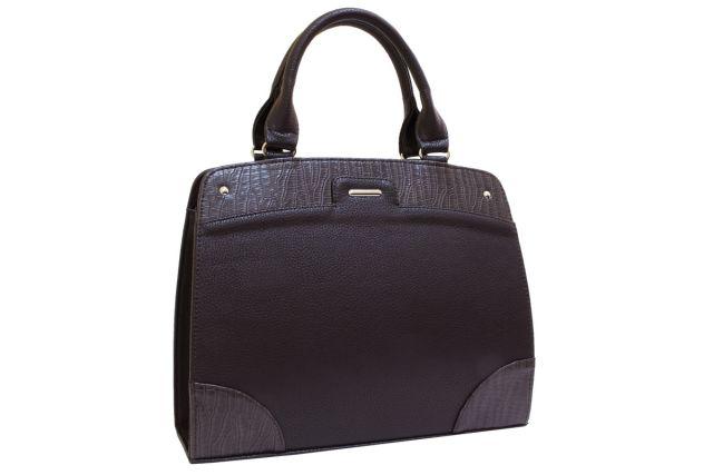 1522 сумка женская коричневая/коричневый крок