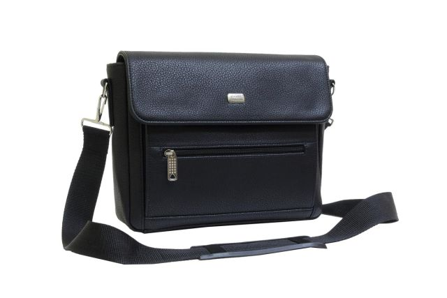 1733 сумка мужская молодежная черная