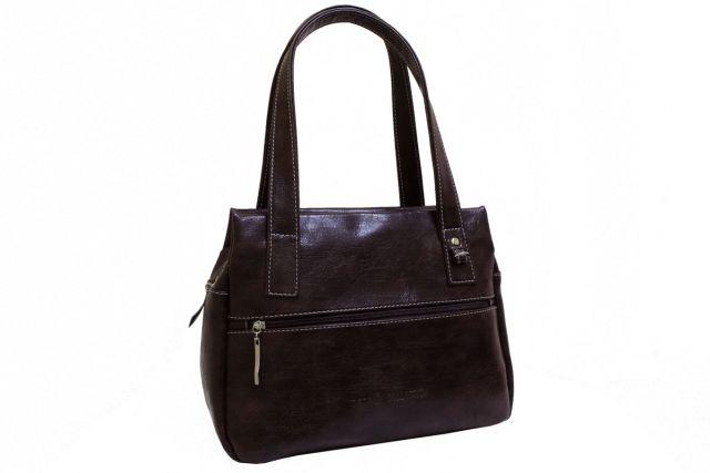 1736 сумка женская коричневая