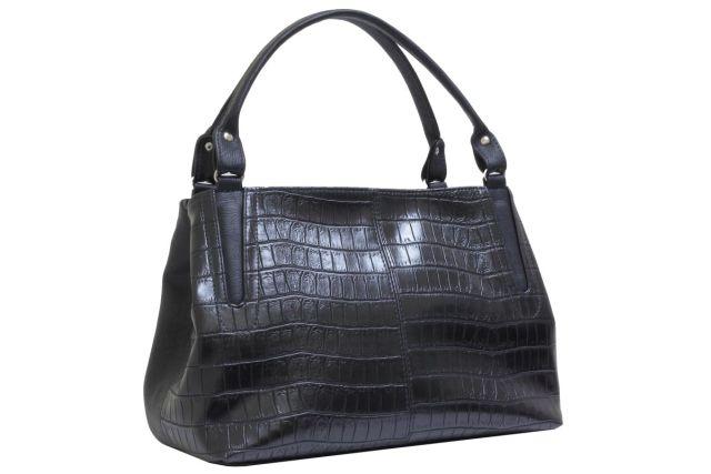 1735 сумка женская черный крок