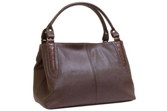 1735 сумка женская коричневая