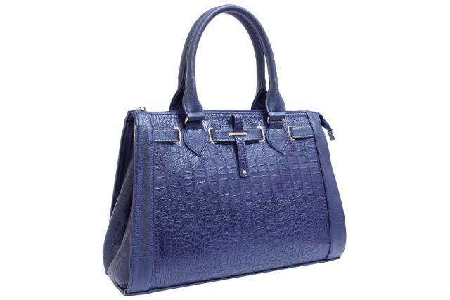 1425 сумка женская синий крок/синяя