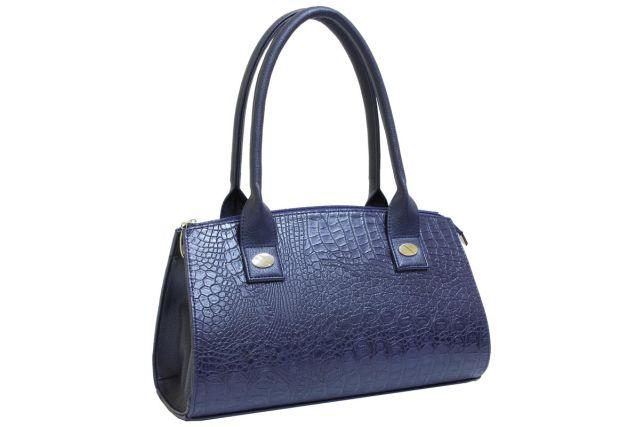 1519 сумка женская синий крок