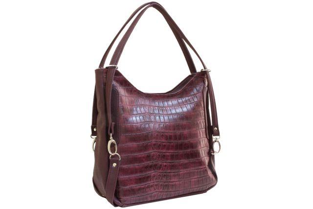 1443 сумка женская бордовая