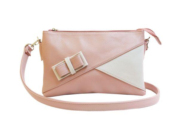 1404 сумка женская розовая с отделкой