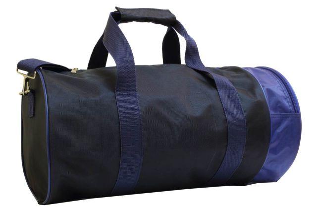 1412к сумка спортивно-дорожная черная/синяя