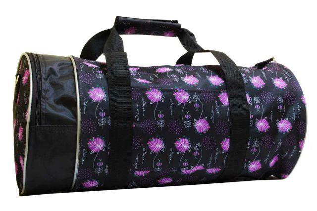 1412к сумка спортивно-дорожная дизайн/черная
