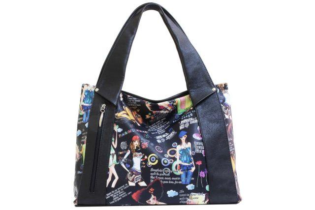 1804 сумка женская дизайн/черная