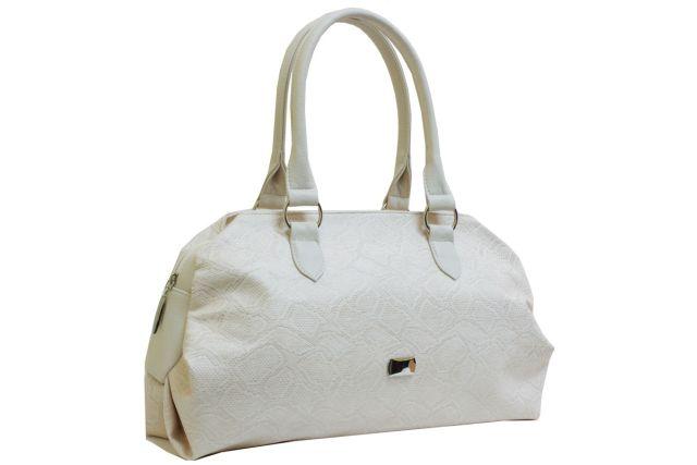 1739 сумка женская бежевая рептилия/бежевая