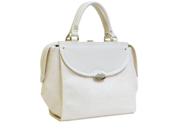 1738 сумка женская бежевая рептилия/бежевая