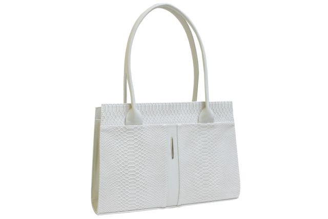 1518 сумка женская бежевый крок/бежевая