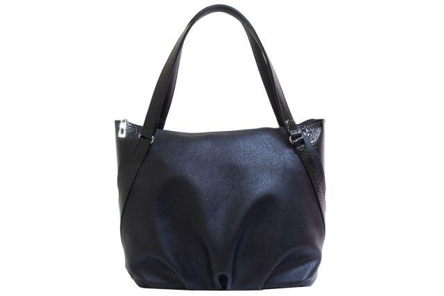 1807 сумка женская черная с отделкой