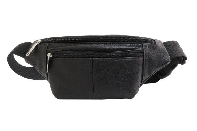 1808 сумка мужская поясная черная