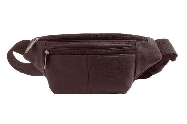 1808 сумка мужская поясная коричневая